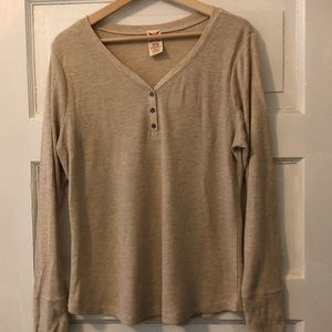 Henley shirt XL - oatmeal